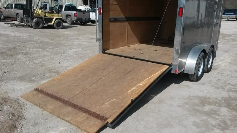 FOR RENT ONLY #16 7x12 Interstate Tandem Axle Cargo Trailer