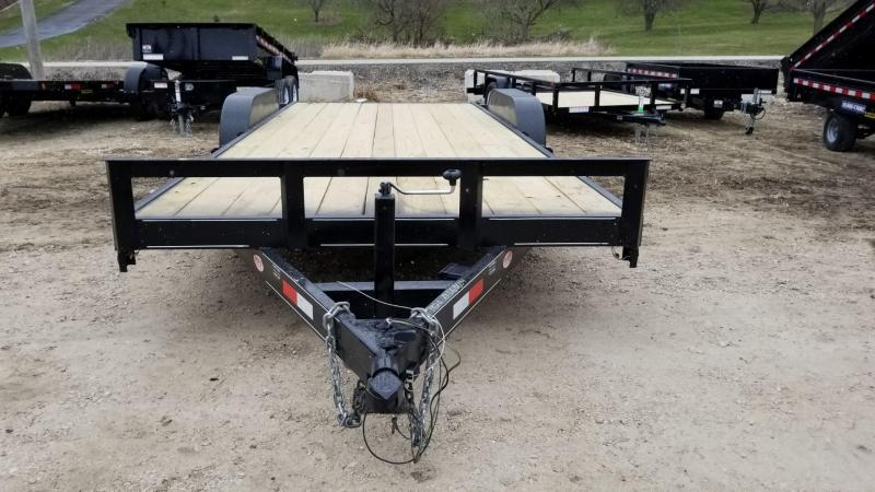 2020 M.E.B 7x20 Treated Wood Deck Auto Hauler 10k