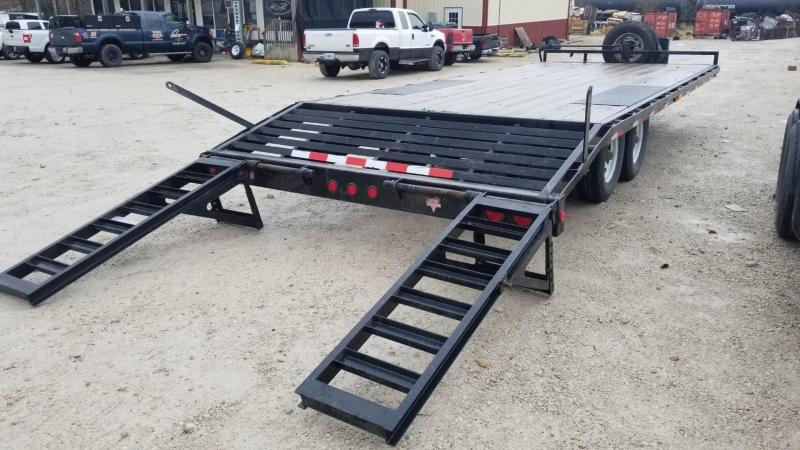 2014 PJ Trailers 8.5x18+3 Equipment Trailer w/Stand Up Ramps 14k