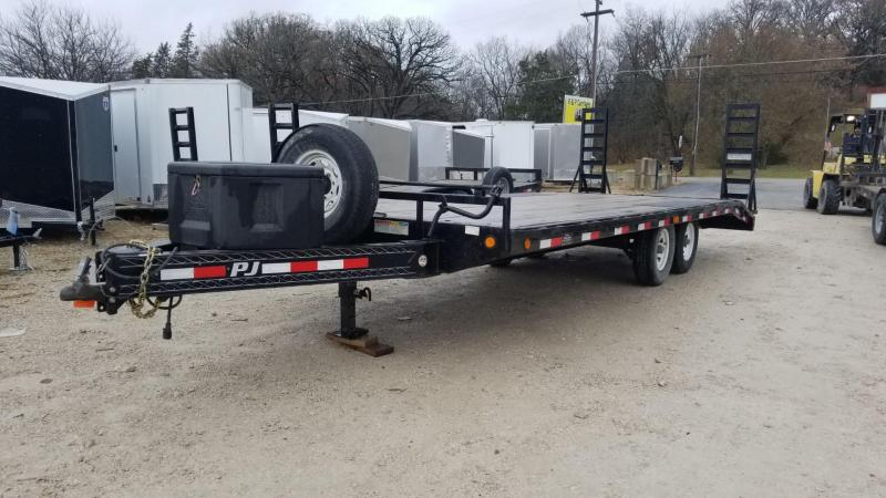 2014 PJ Trailers 8.5x18+3 Equipment Trailer w/Stand Up Ramps Equipment Trailer