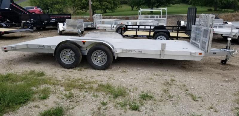 2020 R and R Trailers 7x18 All Aluminum Open Deck Car Hauler 7k