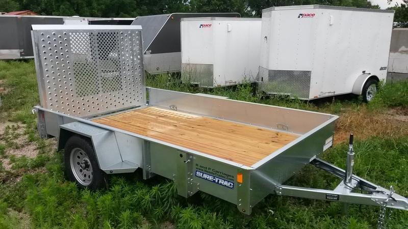 2018 Sure Trac 6x12 Galvanized High Side Utility w/Spring Assisted Gate 3k