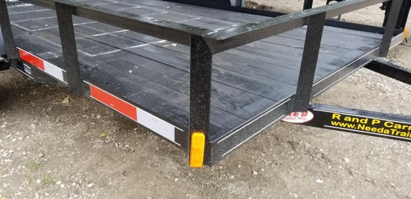 2020 M.E.B 6.4x12 Angle Iron Utility Trailer w/Gate 3k