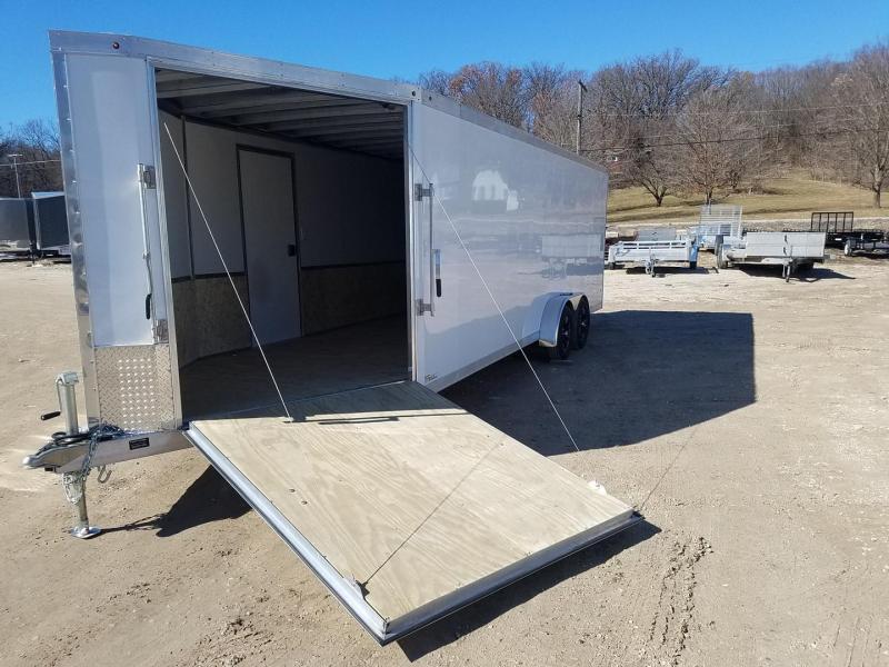 2020 One Trailers 7x28 XFC Aluminum Drive Thru Snowmobile Trailer 7k