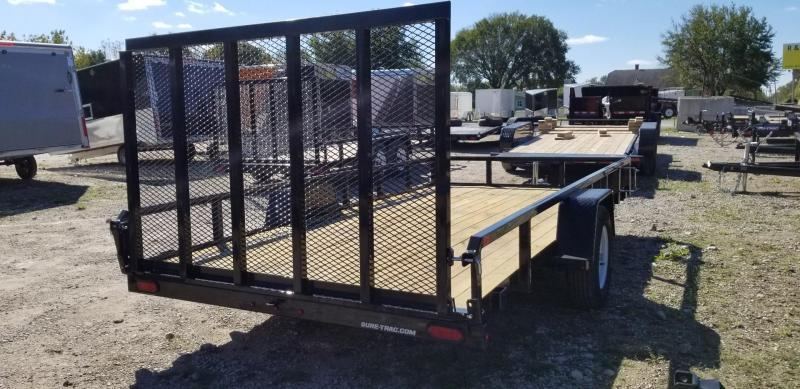 2020 Sure-Trac 7x14 Tube Top Utility Trailer w/Spring Asst Gate 3k