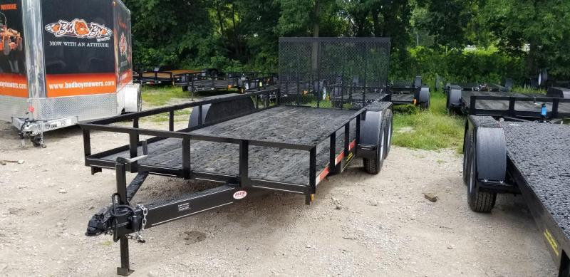 2019 M.E.B 6.4x16 Utility Trailer w/Gate and Brake 7k