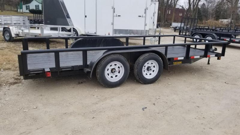 2020 M.E.B 6.4x16 Piperail Utility Trailer w/Ramps and Brake 7k
