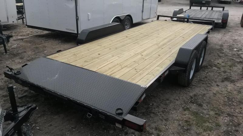 2020 Sure-Trac 7x20 Open Wood Deck Auto Hauler 10k