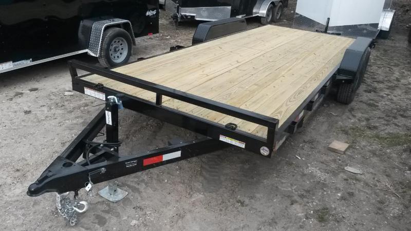 2020 Sure-Trac 7x20 Open Wood Deck Auto Hauler 10k