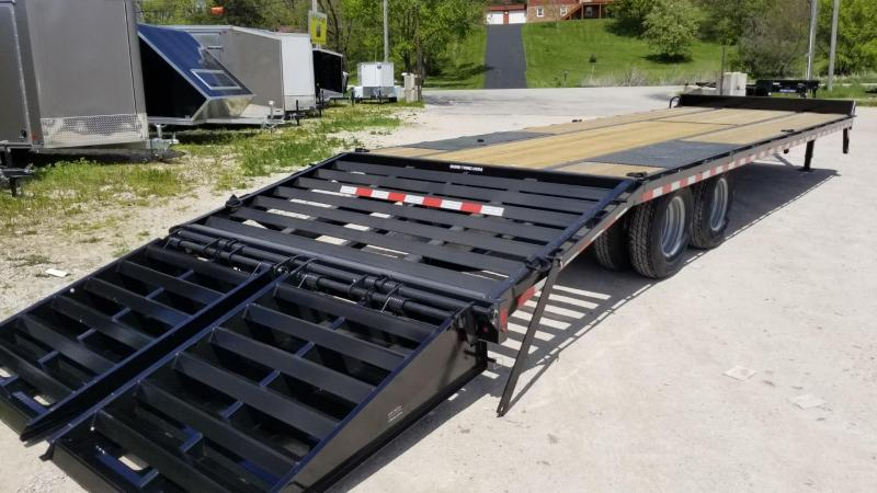 2020 Sure-Trac 8.5x25+5 Heavy Duty Equipment Trailer w/Full Width Ramps 22.5k