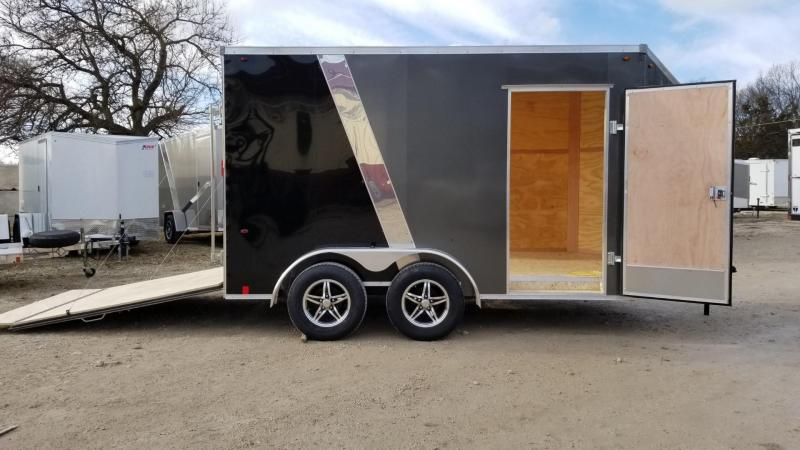 2020 Interstate 7x12 IFC Enclosed Cargo Trailer 7K