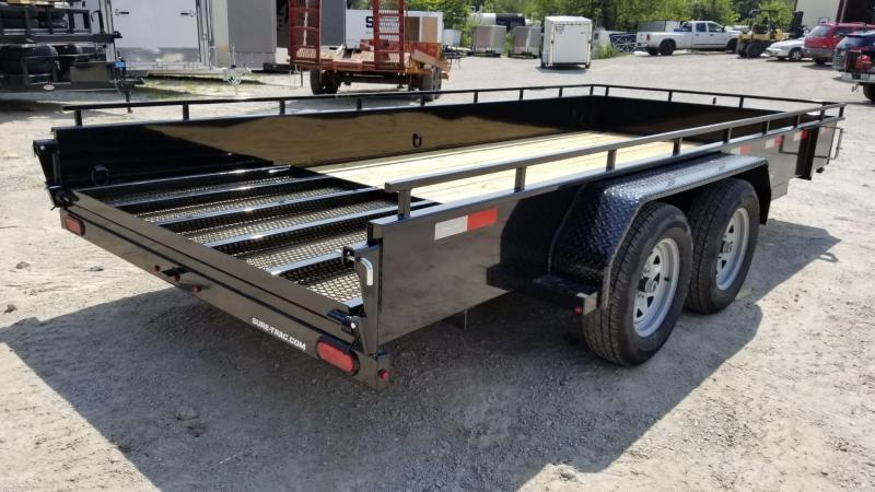 2020 Sure-Trac 7x16 High Sided Utility Trailer w/Spring Asst Gate 7k
