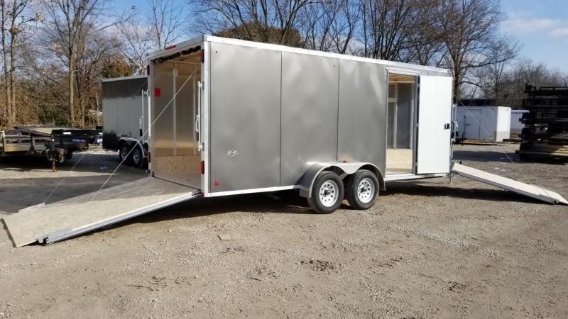 2020 R and R Trailers 7x18 Slasher Drive Thru Snowmobile Trailer 7k