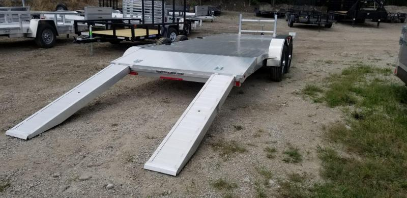 2020 R and R 7x18 All Aluminum Open Deck Auto Hauler 7k