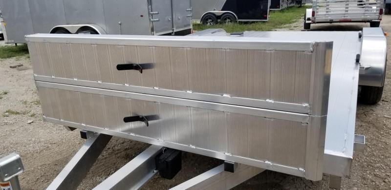 2020 R and R 7x18 All Aluminum Open Deck Auto Hauler 7k