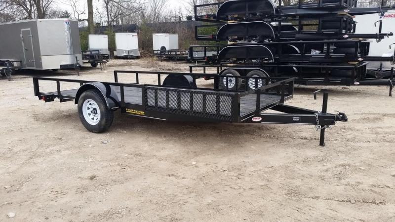 2019 M.E.B Xtra Wide 6.8x12 ATV Trailer w/Board Holders and Ramps 3k
