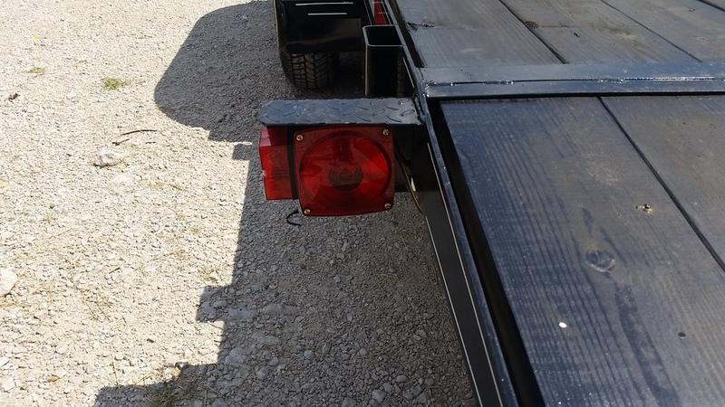 2020 M.E.B 7x18 Wood Deck Open Car Hauler 7K