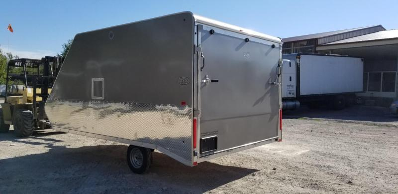 ON ORDER 2020 R and R 12ARC Aluminum 2 Place Enclosed Snowmobile Trailer 3k
