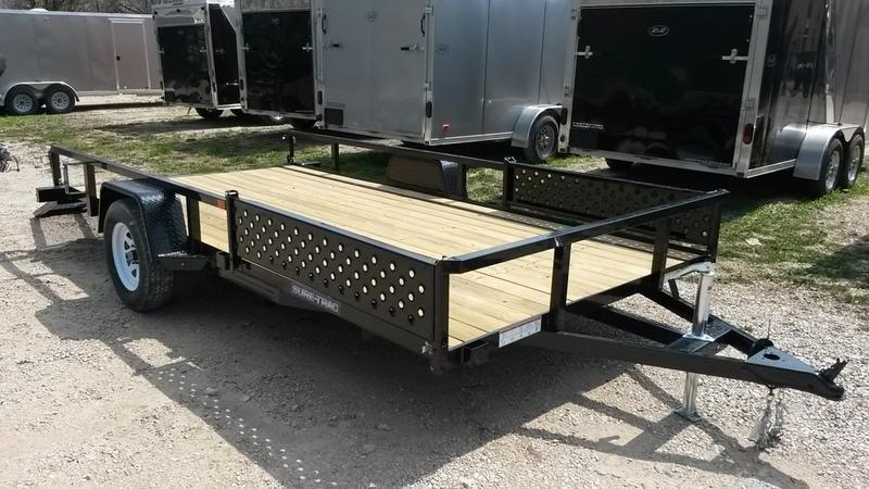 2020 Sure Trac 7x14 Tube Top ATV Utility Trailer w/Gate 3k