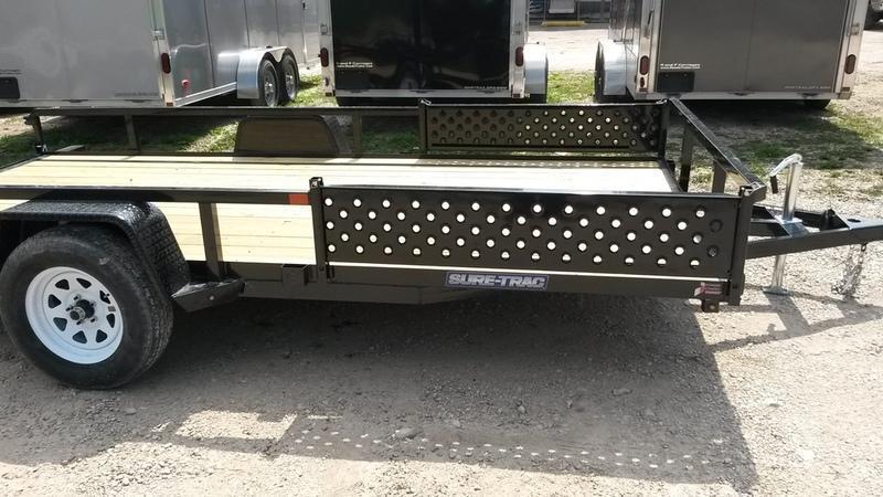 2020 Sure Trac 7x14 Tube Top ATV Utility Trailer w/Gate 3k