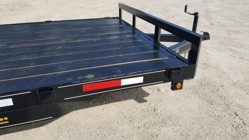 ON ORDER 2019 M.E.B 7x18 Wood Deck Open Auto Hauler 7K