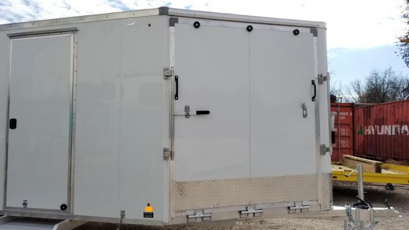 2020 R and R 7x22 SE Aluminum 4 Place Enclosed Snowmobile Trailer 7k