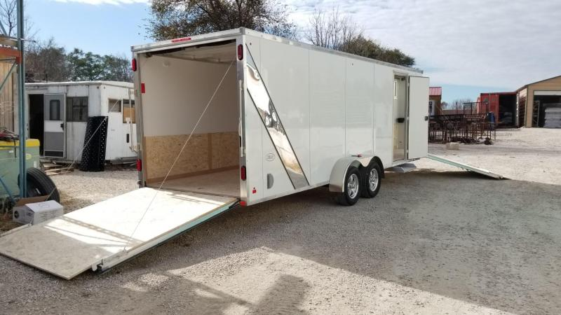 ON ORDER 2020 R and R 7x22 SE Aluminum 4 Place Enclosed Snowmobile Trailer 7k