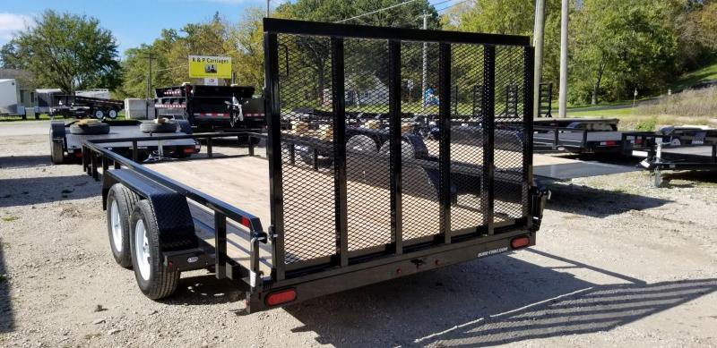 ON ORDER 2020 Sure-Trac 7x16 Tube Top Utility Trailer w/Ramp Gate 7k