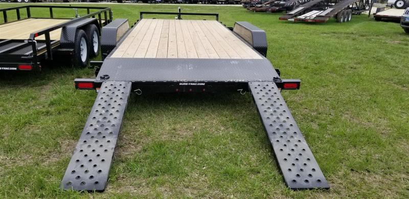 2020 Sure-Trac 7x18 Wood Deck Auto Hauler w/Slide Out Ramps 10k