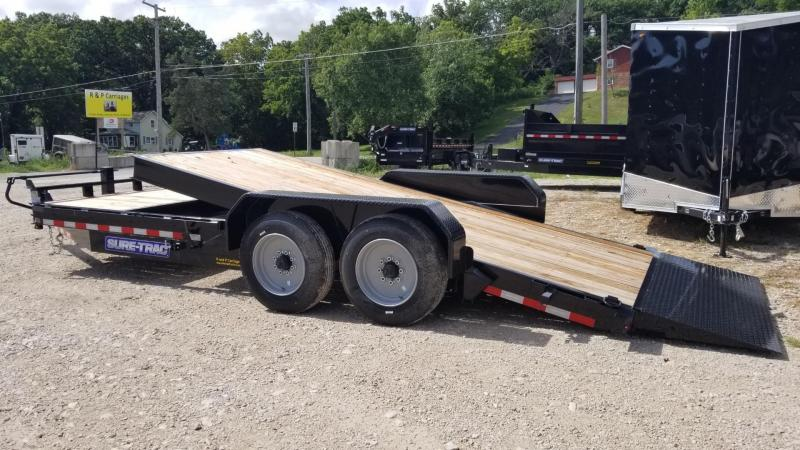 2019 Sure-Trac 7x16+4 Tilt Deck Equipment Trailer w/Stationary 16k