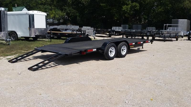 2020 M.E.B 7x18 Wood Deck Open Car Hauler 7K