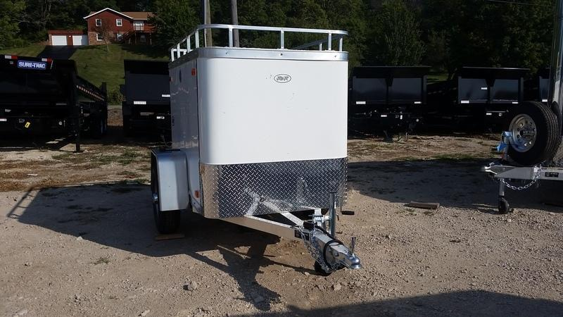 ON ORDER 2020 R and R Trailers 4x6 Enclosed All Aluminum Cargo Trailer w/Barn Door, Luggage Rack 2.2k