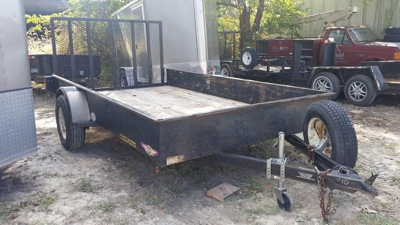 FOR RENT ONLY #10 H and H 7x12 Utility Trailer w/Gate