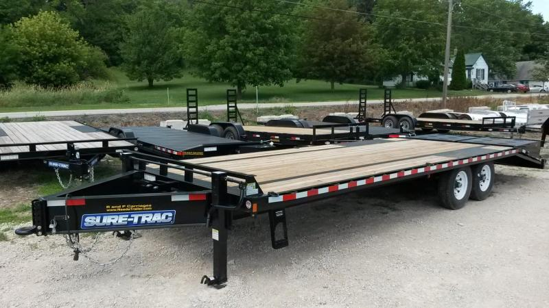 2020 Sure-Trac 8.5x20+5 Deckover Equipment Trailer w/Full Width Ramps 14k