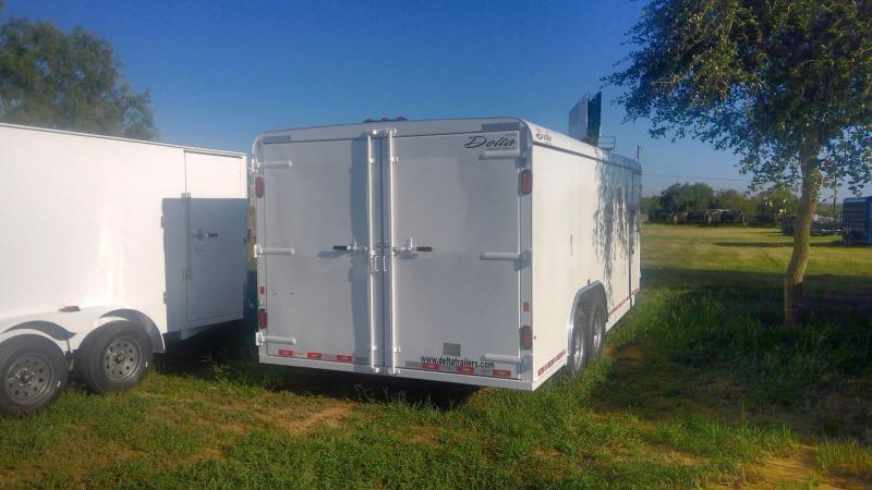 2020 Delta Manufacturing 8X20 Tandem Enclosed Cargo Trailer