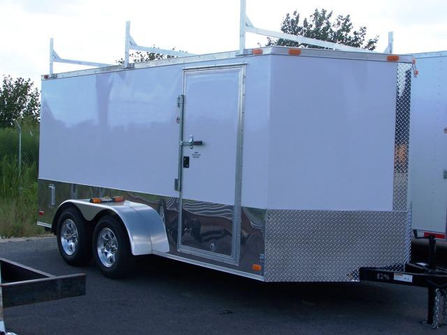 7X14 VR Enclosed Construction Trailer