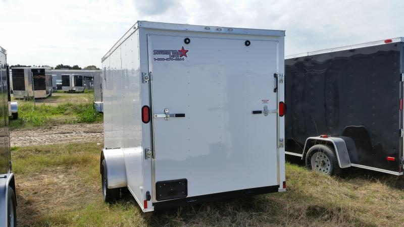 New 6x12 CHARCOAL GRAY Single Axle Enclosed Cargo Trailer