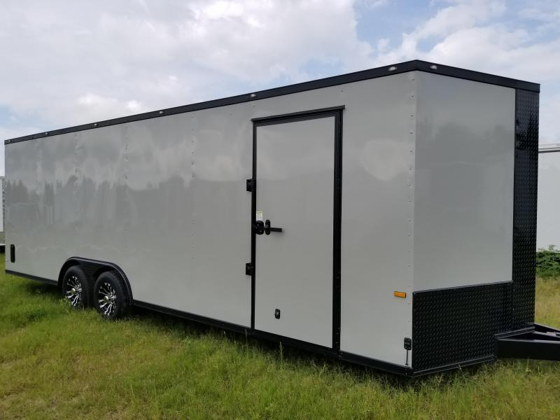 8.5X24 TVR Enclosed Cargo Trailer 5200 lb. Axles