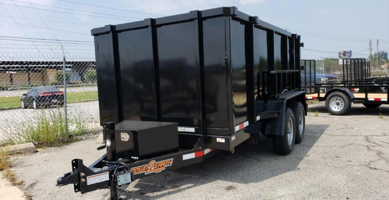 "2020 Down 2 Earth Trailers D2E 6x12 10K Dump Equipment Trailer W/ 48"" Sides"
