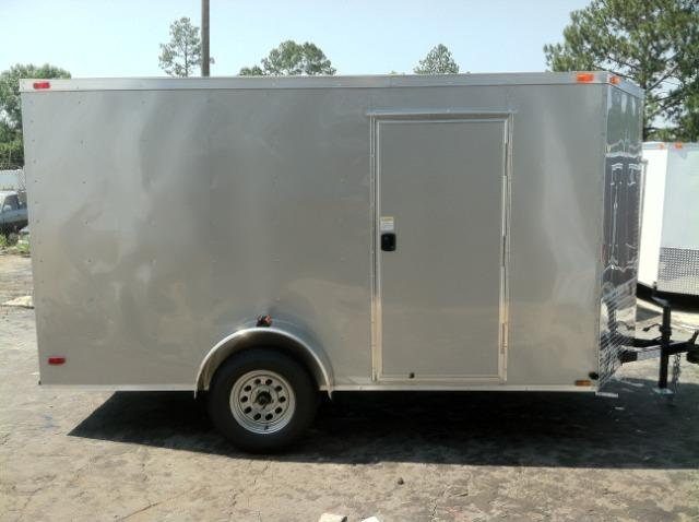 6x12 SVR Enclosed Trailer Silver Frost