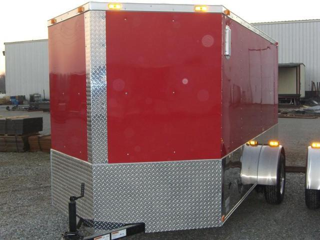 6X12 SVRM Enclosed Motorcycle Trailer With .030 COLOR