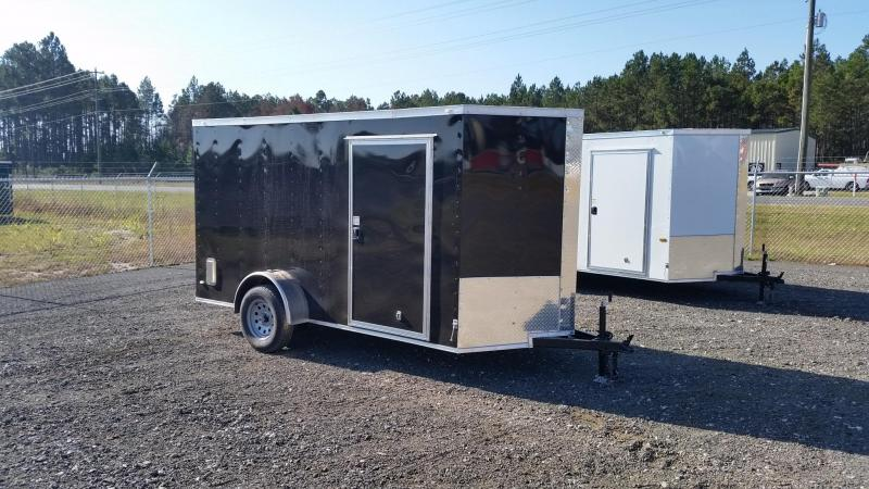 NEW Rock Solid Cargo 6x12 White Single Axle Enclosed Cargo Trailer