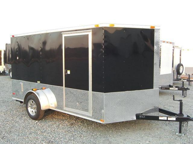 6X12 SVRM Enclosed Bike Trailer W/ Color