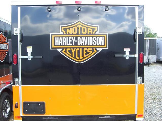 6x12 TVRH Enclosed Harley Trailer