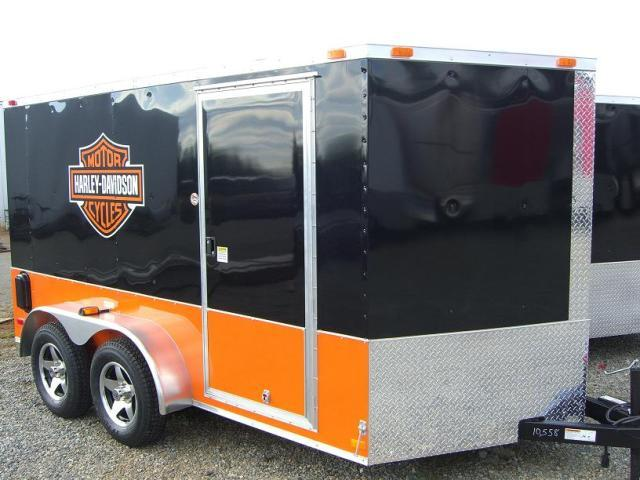 7x12 TVRH Harley Enclosed Cargo Trailer
