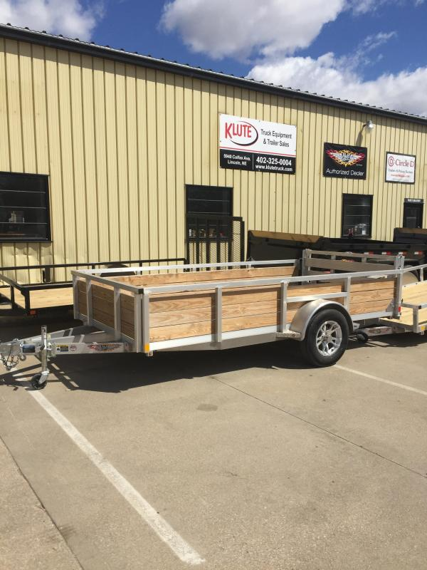 2018 H and H Trailer 8(76)X12 WOOD-SIDE ALUM 3K