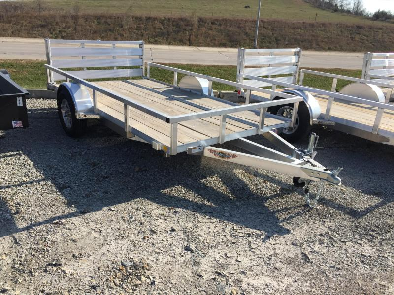 2019 H and H Trailer 8(76)x12 RAILSIDE ALUM 3K