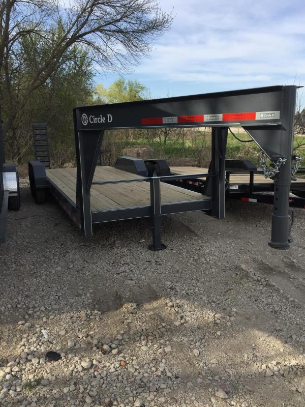 2019 Circle D 20+2 Gooseneck Low Profile Flatbed Trailer