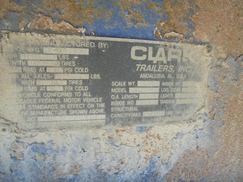 """2005 Clark Trailers 96""""x32' Steel Flat Bed"""