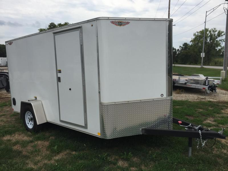 2019 H and H Trailer 7X12 SINGLE FLAT TOP CA VNOSE 3.5K CARGO